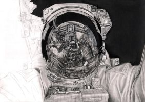 'SPACE' wip 65% by Pen-Tacular-Artist