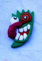 Courage The Cowardly Dog - Mask Pendant by weedenstein