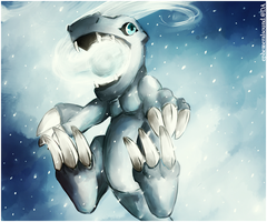 Little Blizzard: SnowAgumon. by ephemeralsound