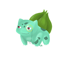 Bulbasaur Redraw by ForTheLoveOfWalrus