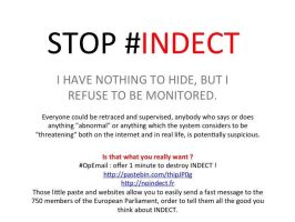Stop INDECT Sticker ~  I have nothing to hide - EN by OpGraffiti