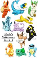 Pokemon-Charms Batch 2 by Shalie