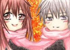 Vampire Knight Kakao Card Yuki and Zero by Ahnung