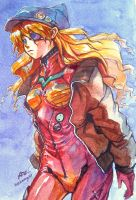 Asuka Langley Fan Art by webang111