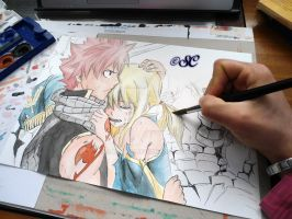 Natsu and Lucy work in progress 3 by Salvo91