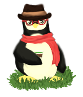 Hipster Penguin by icefire8521