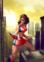 Attack of the 50 ft Super Heroine by cric