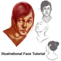 ILLUSTRATIONAL FACE TUTORIAL by AmourFonce