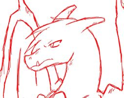 .:Sketch:Charizard:. by ShadownChaosforevr