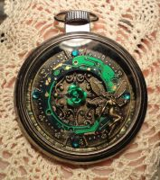 Absinthe Steampunk Fairy Pocket Watch by MoonlightMoth
