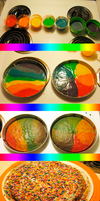 Colorful Rainbow Cake (From Start to Finish) by FearOfTheBlackWolf