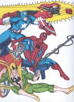 Maximum Carnage Tribute Part 9-Team Spider-Man by RobertMacQuarrie1