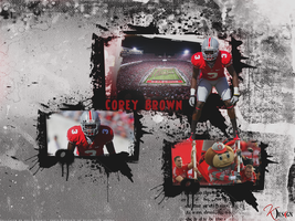 Corey Pittsburg Brown Wallpaper by KevinsGraphics
