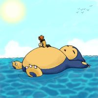 Snorlax Surfing by InsaneNuclearUnit
