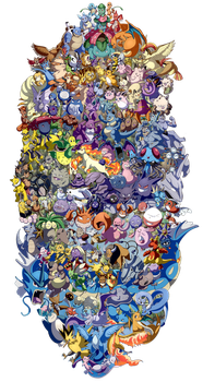 Pokemon 20th Anniversary: 151 by Eversparks