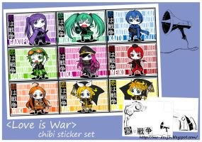 vocaloid chibi stickers by mao00mao