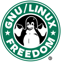 GNU-Linux Starbuck's logo by lalitpatanpur