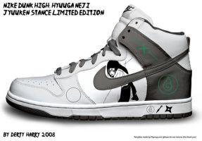 Nike Dunk High: Hyuuga Neji Yj by DertyHarry