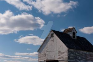 Clouds Above the Corn Crib. by lividity101