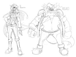 BDB: Roulette and Agro Sketch by endshark