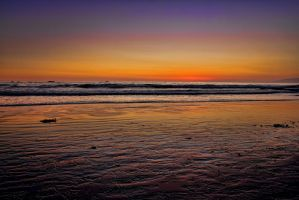 Sunset at Santa Monica Beach by Doogle510
