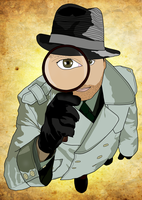 Detective Illustration by MD3-Designs