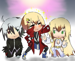 Collab: Ragna, Jin and Ama-Jin by DiliaRen
