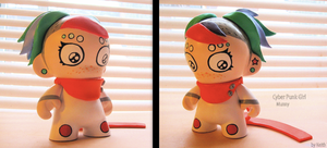 Munny Cyber Punk Girl by sparr0