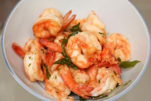 Basil prawns by patchow