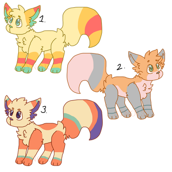 More fox adoptables (OPEN) by Syno13