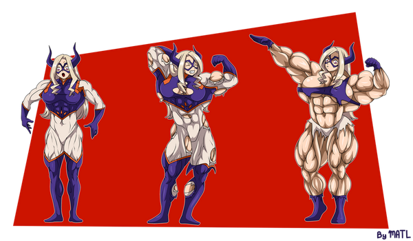 Commission - Mount Lady muscle growth sequence by MATL