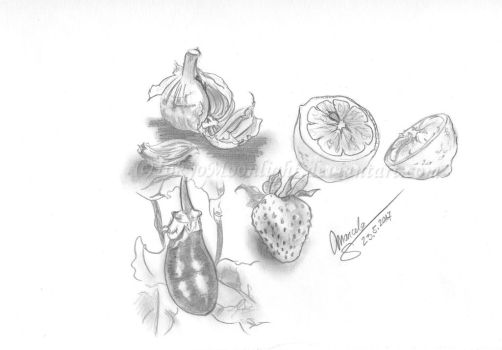 SKETCH no.1: Fruits and Vegetables by TokyoMoonlight