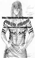 BLEACH: Abarai Renji -showers- by blackstorm