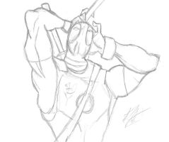 Deadpool Pencil Perspective by rox52