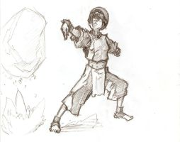 toph earthbending by JaredSalmond