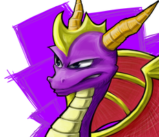 Spyro Sketch by Mattadon