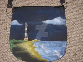 Lighthouse purse by BrokenCagedBird
