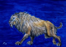 Smilodon by wildelbenreiter