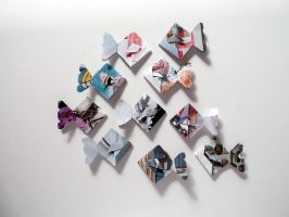 Origami Fish Stickers by blushampo0