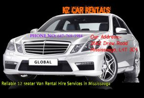 Reliable 12 seater Van Rental Hire Services by kz-car-rentals