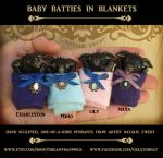Baby Batties in Blanket Pendants by natamon
