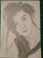 chanyeol drawing by MusicFanGirl