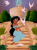 Jasmine Coloring Page by Wickfield