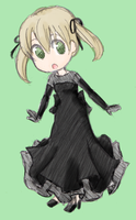 Chibi Black Blood Dress Maka by Z-Raid