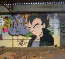 Vegeta in the Street by dadouX