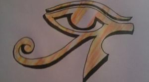 eye of horus by sugarskull-tattoos