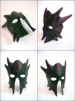 Green Dragon Mask Finished by Armenoc