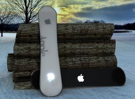 apple snowboard by gajdoslevente