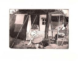 camping by gerre