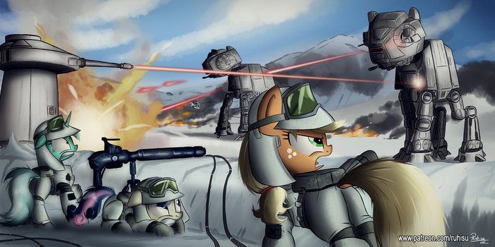 The battle of Hoth by Ruhisu